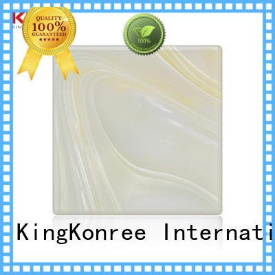 KingKonree white solid surface countertops ODM for bathroom