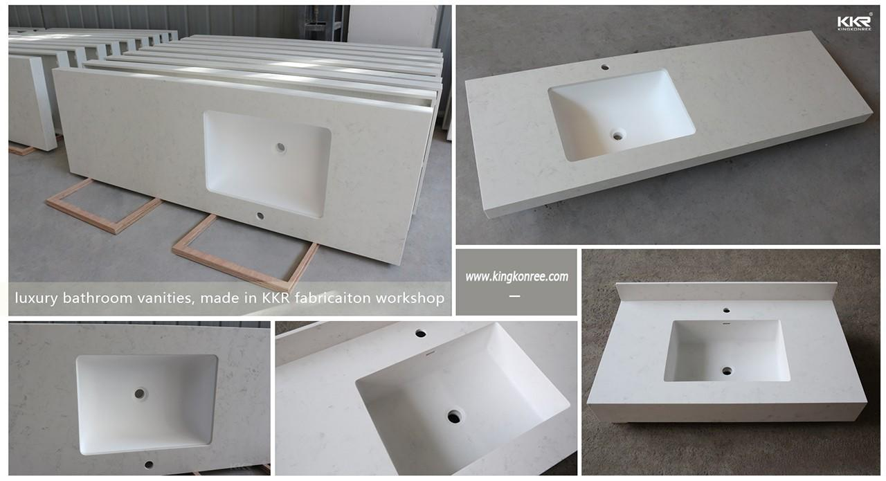 quartz stone bathroom tops under-mount for motel-1