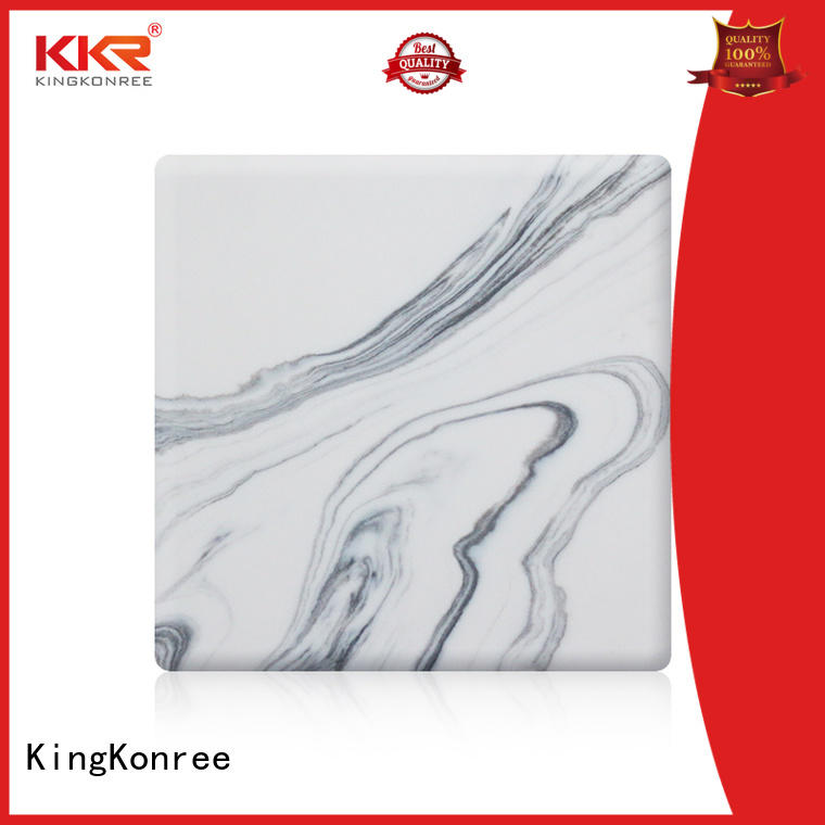 KingKonree solid surface sheets for sale from China for indoors