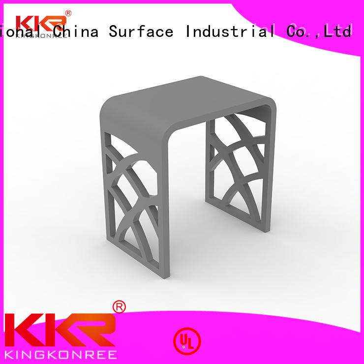 Newly Design White Marble Acrylic Solid Surface Bathroom Stool KKR-Stool - M