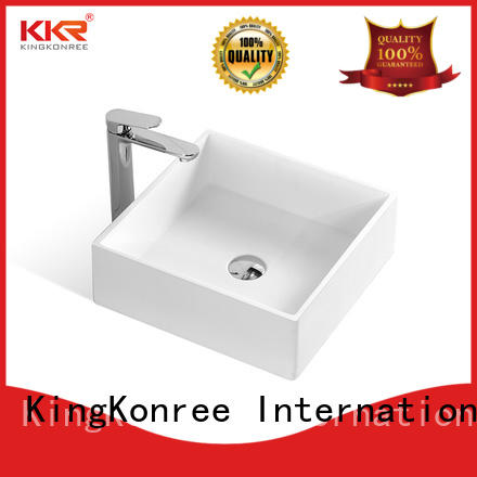 KingKonree white top mount bathroom sink manufacturer for hotel