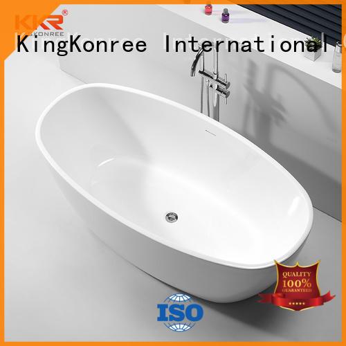 KingKonree high-end acrylic freestanding tub ODM
