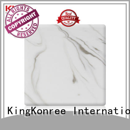 buy solid surface sheets black for hotel KingKonree