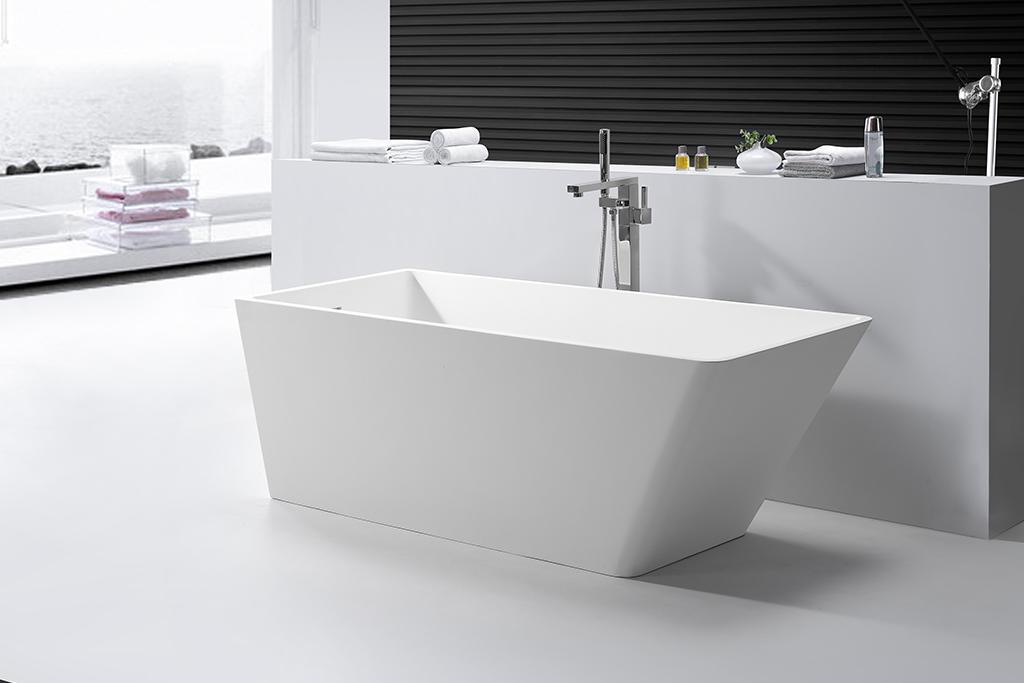 KingKonree finish stand alone tub in small bathroom for family decoration-1