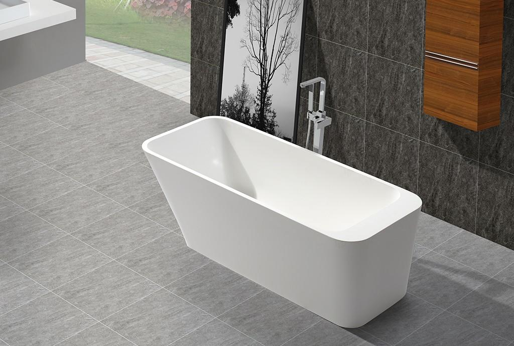 KingKonree marble stand alone soaking bathtubs for shower room-1