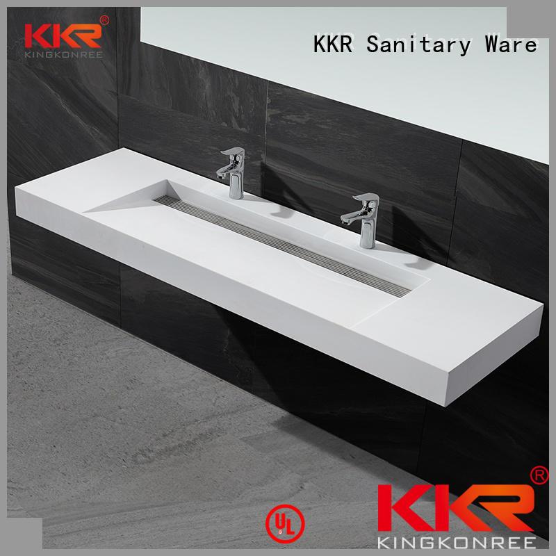 Quality KingKonree Brand wall mounted bathroom basin mounted size