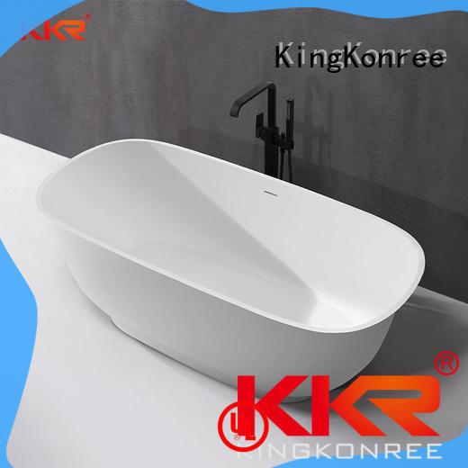 Hot Sale Luxury Bathroom Acrylic Freestanding Solid Surface Bathtub KKR-B090