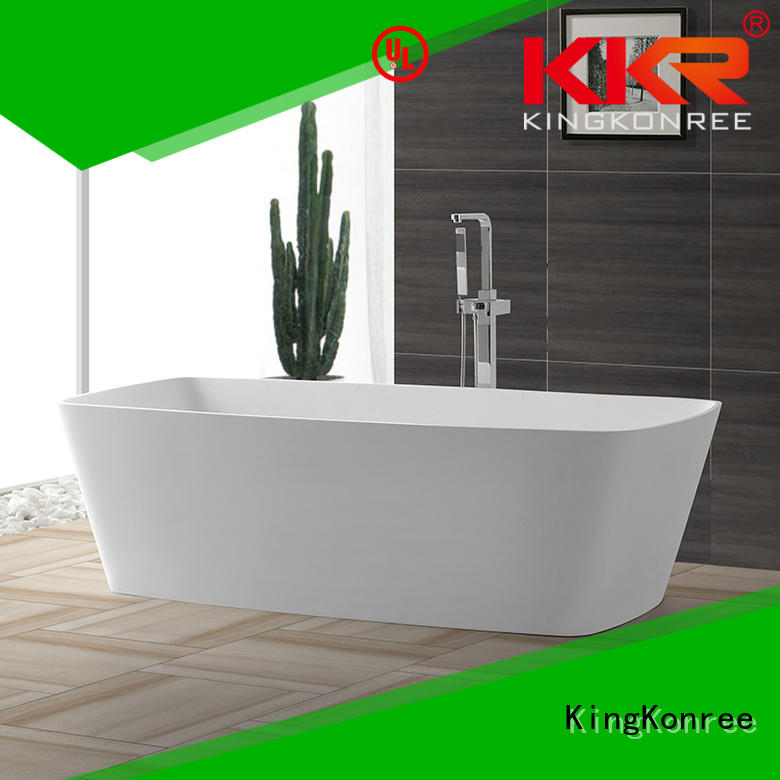 Solid Surface Freestanding Bathtub b004 against free KingKonree Brand