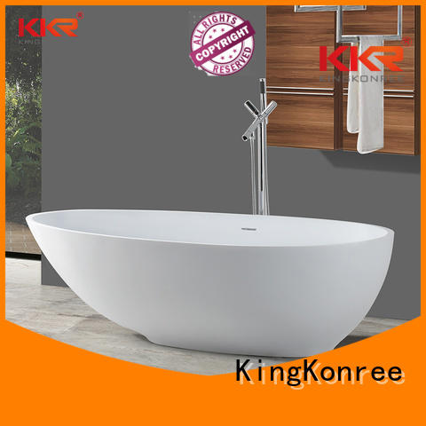 rectangle freestand b002c KingKonree Brand solid surface bathtub