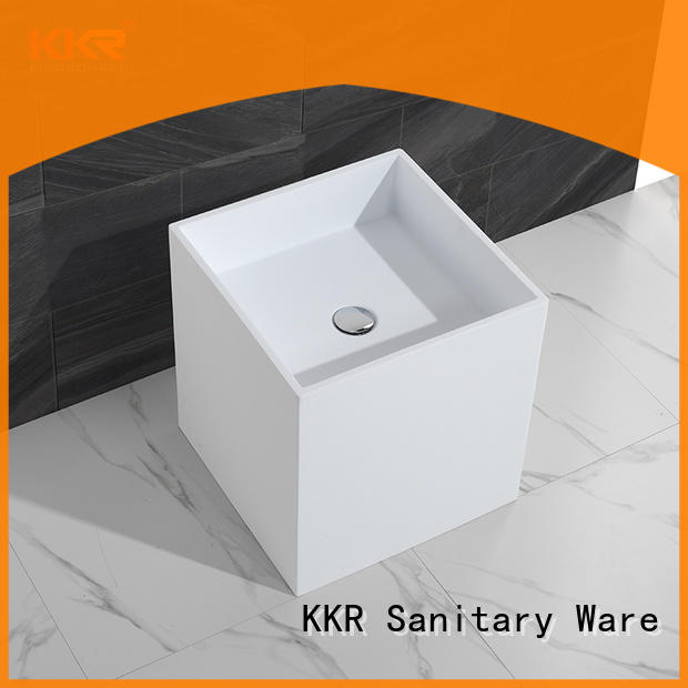 durable free standing wash basin customized for hotel
