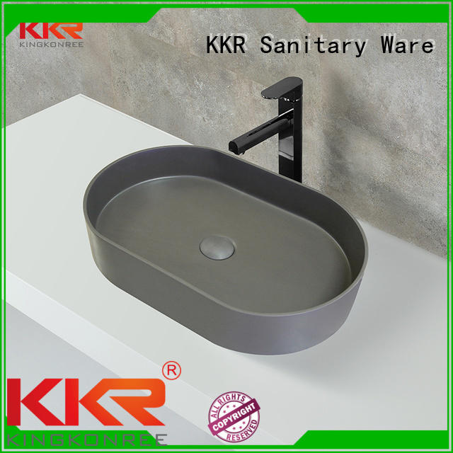 oval above counter basin artificial quality KingKonree Brand company