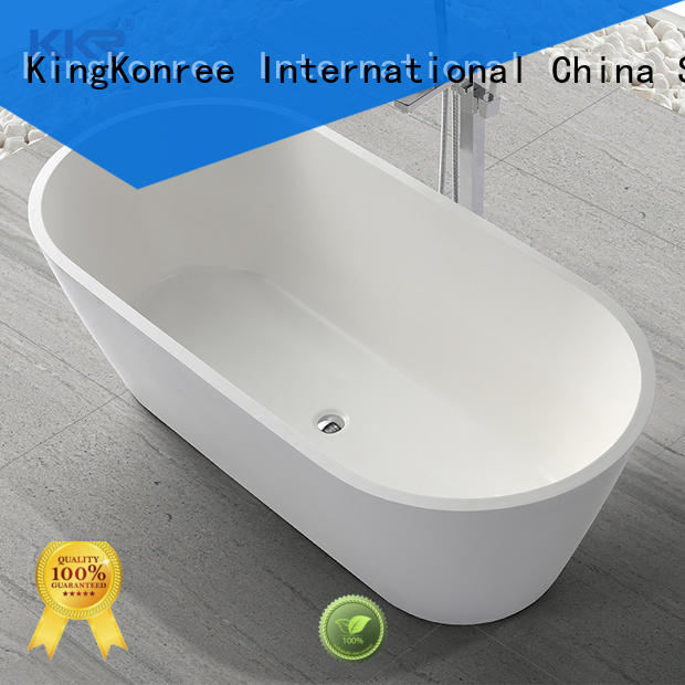 cheap freestanding bath black for shower room KingKonree