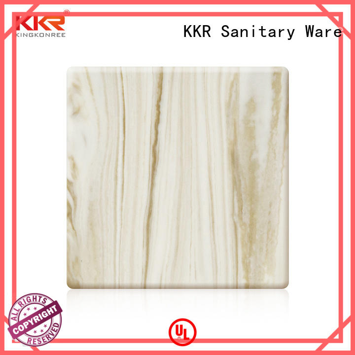 acrylic solid surface sheets suppliers for hotel KingKonree
