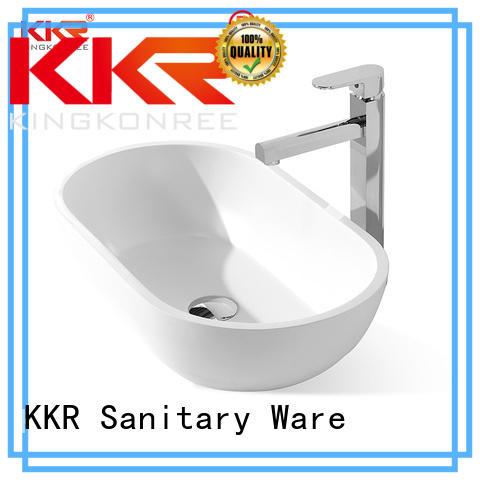 white above counter vessel sink sanitary ware for room KingKonree