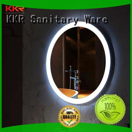 KingKonree wall-mounted large vanity mirror for toilet