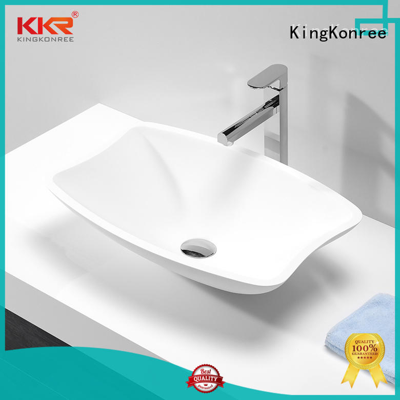 top mount bathroom sink black for room KingKonree