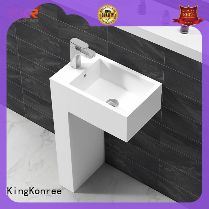 KingKonree Italian freestanding bathroom basin supplier for motel