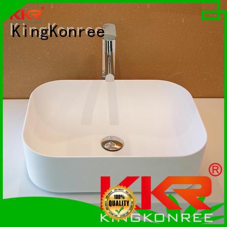 selling above acyrlic kkr KingKonree Brand above counter basins supplier