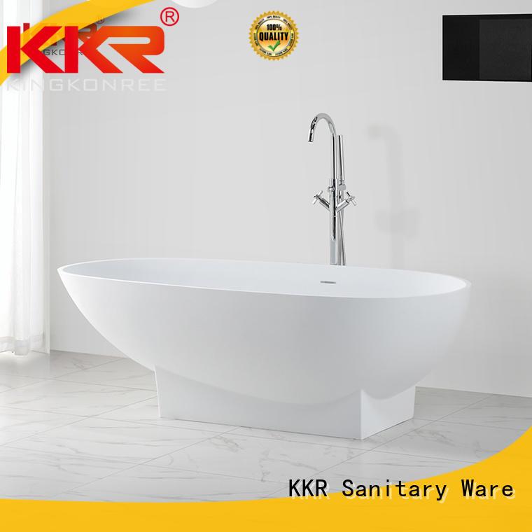 Renewable acrylic solid surface stone freestanding bathtub KKR-B021