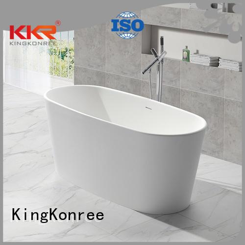 floor 150cm black KingKonree Brand solid surface bathtub