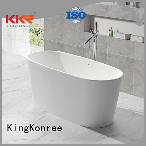 floor 150cm black KingKonree Brand solid surface bathtub