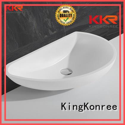 Hot wash oval above counter basin pure KingKonree Brand