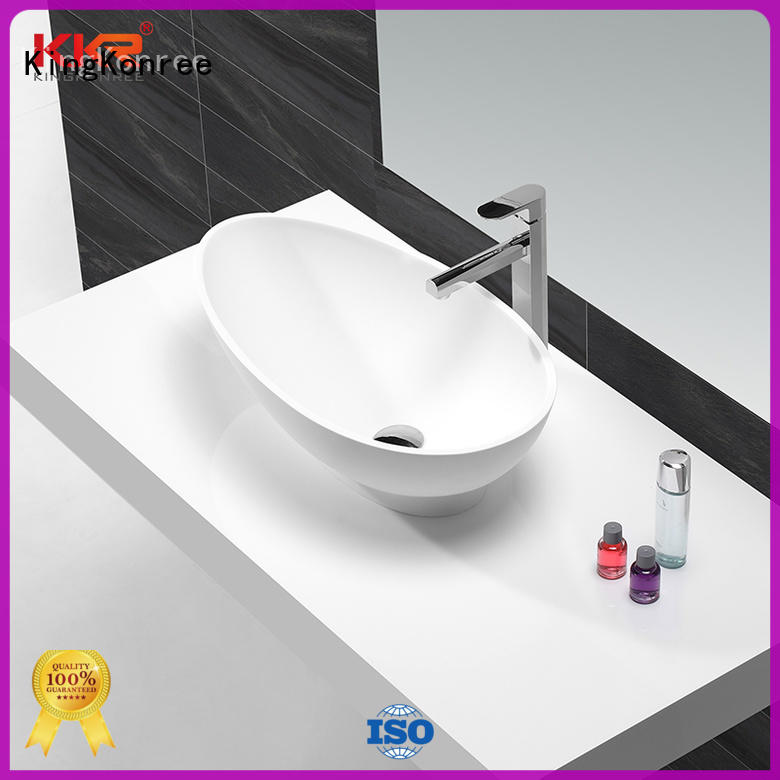 KingKonree durable above counter vanity basin supplier for restaurant
