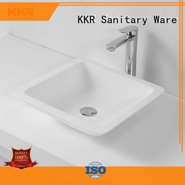 KingKonree white above counter basin round cheap sample for hotel