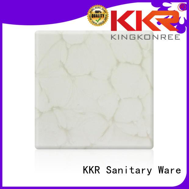 artificial Custom acrylic stone backlit translucent acrylic wall panels KingKonree kkr