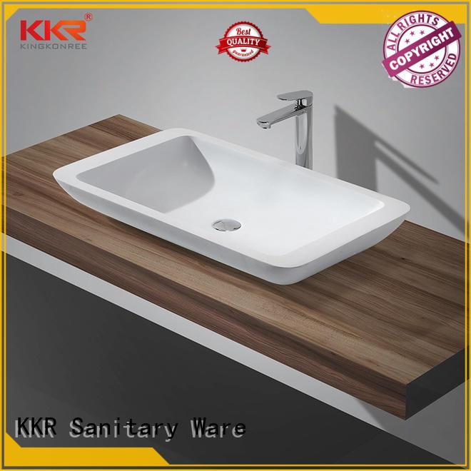 KingKonree marble top mount bathroom sink manufacturer for hotel