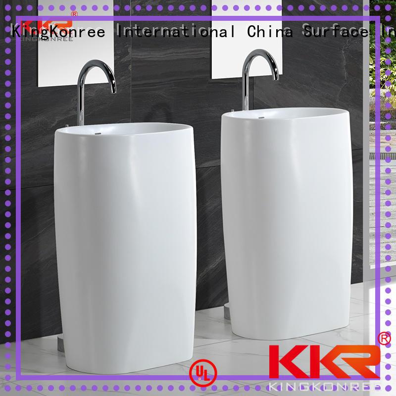 gel freestanding vanity basins factory price for hotel KingKonree