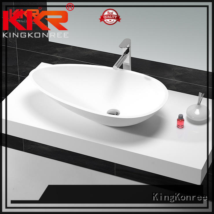 black above counter vessel sink at discount for restaurant