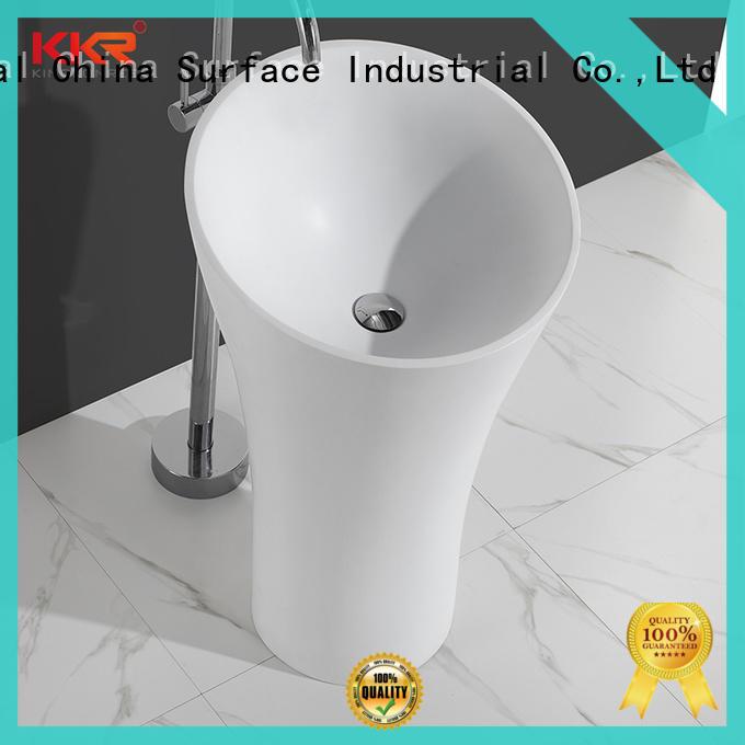 KingKonree pan shape free standing wash basin resin for home