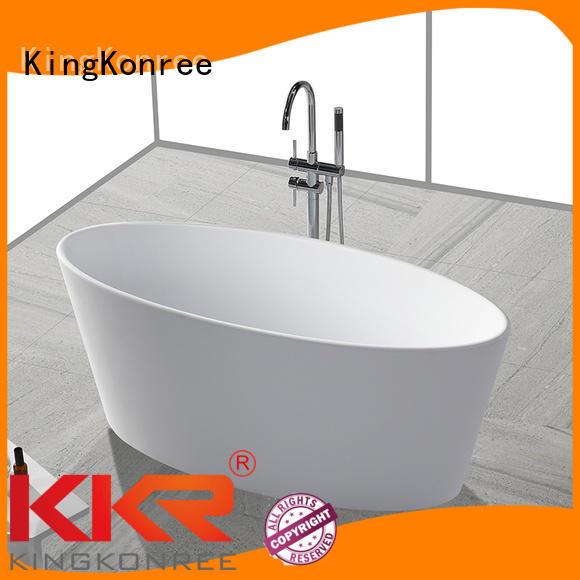 b006 kkrb011 tub renewable KingKonree Brand solid surface bathtub supplier