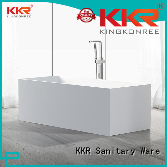 resin solid surface bathtub round KingKonree company