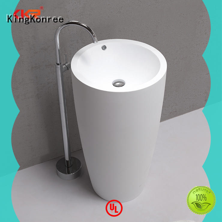 white free standing wash basin factory price for hotel