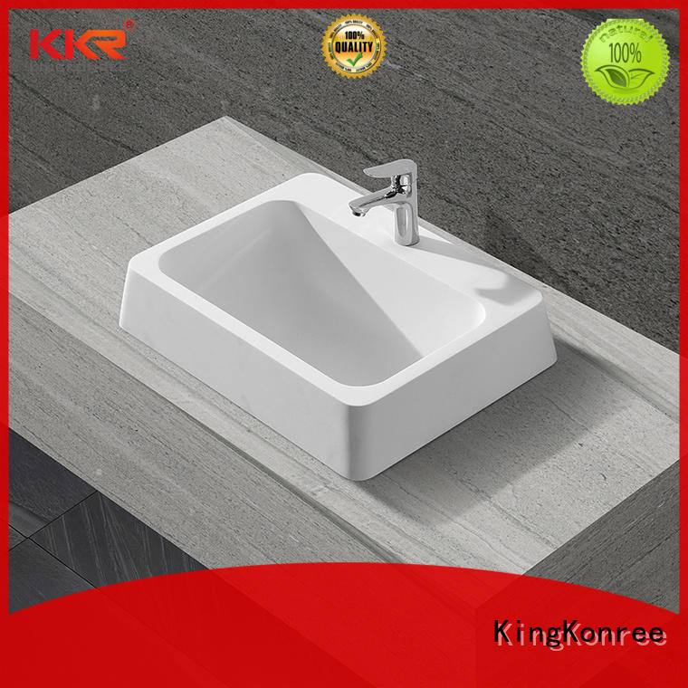 thermoforming above counter vanity basin supplier for hotel