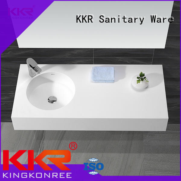 acrylic wall hung vanity basin sink for bathroom
