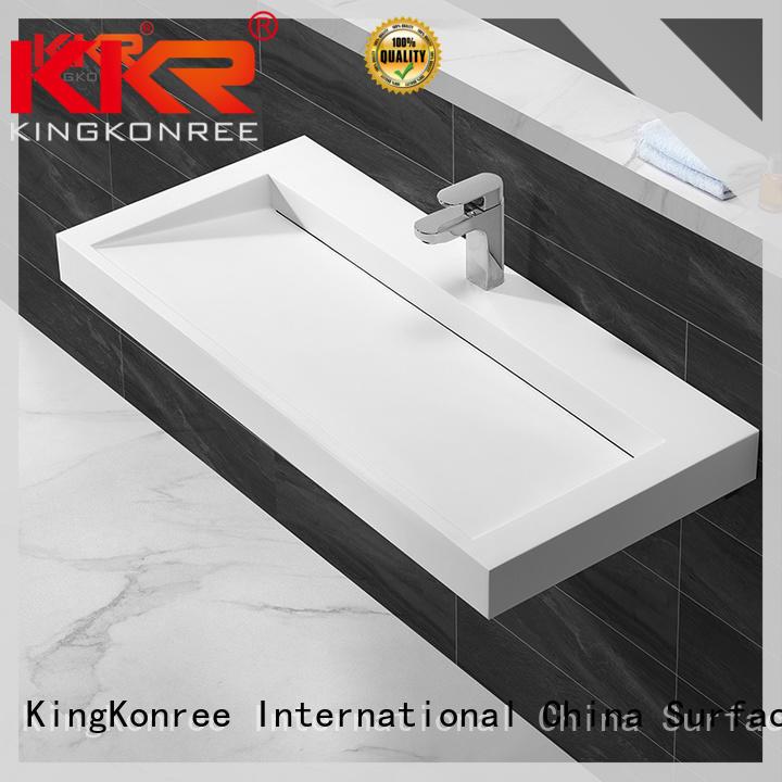 KingKonree small wall hung basin manufacturer for home