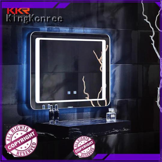 led light wall mounted mirror sanitary ware for home KingKonree