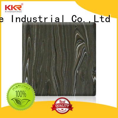 KingKonree solid surface sheets from China for indoors