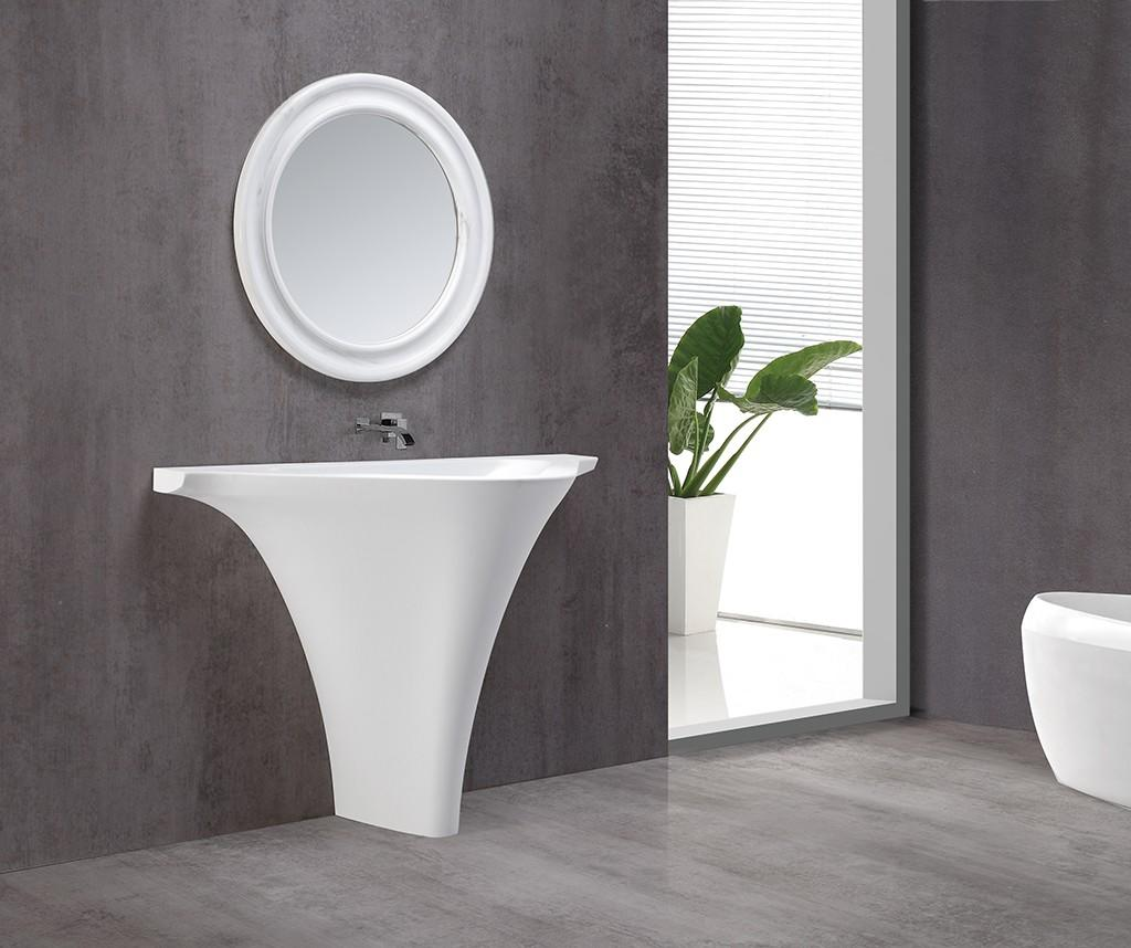 KingKonree freestanding pedestal sink customized for motel-1