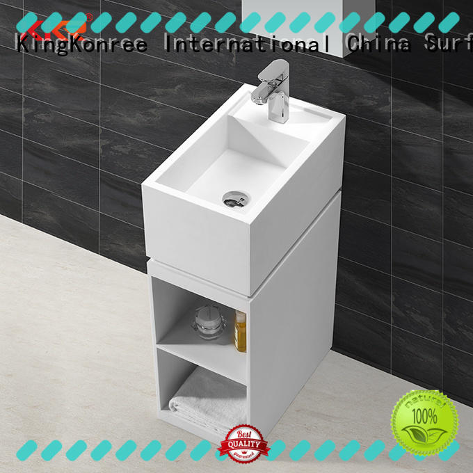 KingKonree stable stand alone bathroom sink design for hotel
