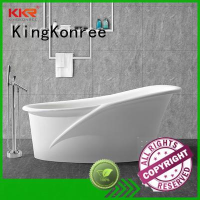 KingKonree stone resin bath custom for family decoration