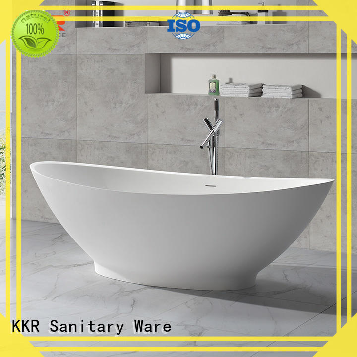 KingKonree black round freestanding bathtub OEM for hotel