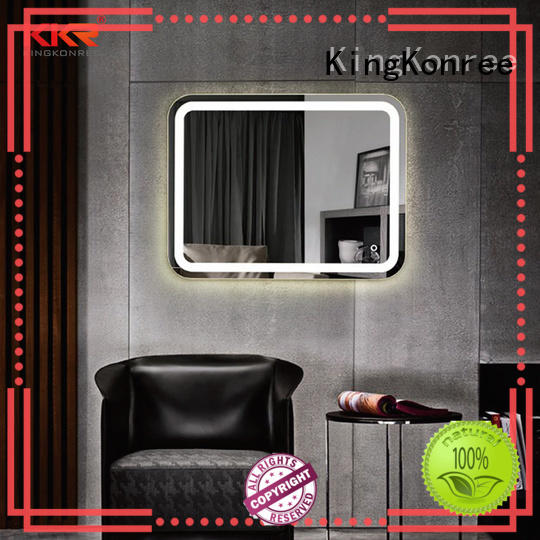 KingKonree classic wall mounted mirror supplier for hotel