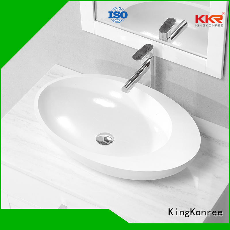 oval above counter basin basin solid bathroom KingKonree Brand above counter basins