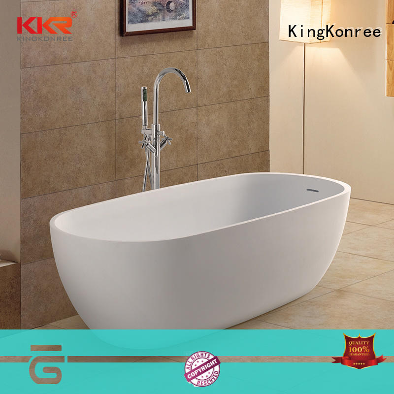 KingKonree overflow modern stand alone bathtub custom for shower room