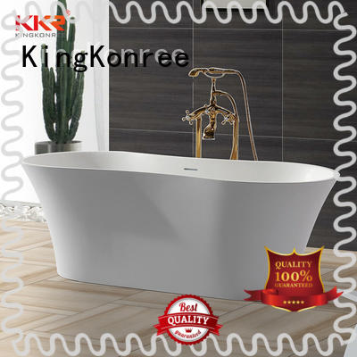 KingKonree overflow stand alone acrylic bathtubs for bathroom