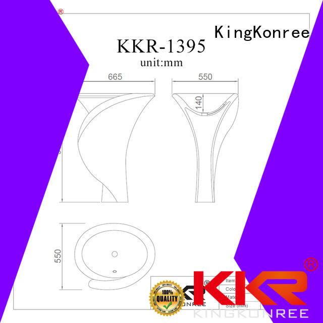 stone acyrlic marble bathroom free standing basins KingKonree manufacture